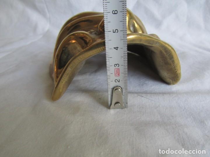 Vintage: Gran máscara de bronce macizo teatro - Foto 11 - 221391436