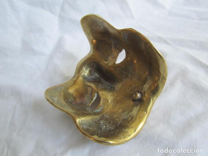Vintage: Gran máscara de bronce macizo teatro - Foto 8 - 221391485
