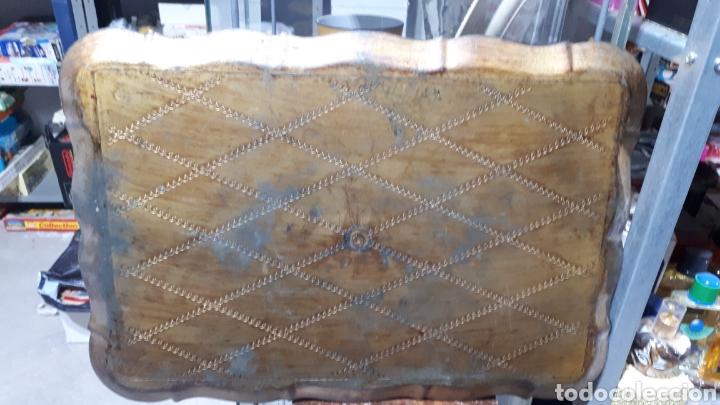 Vintage: Antigua bandeja pvc símil madera diseño florentino sello en parte trasera FLORENTINA - Foto 4 - 221500303