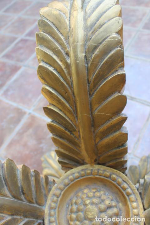 Vintage: MESA MADERA PAN DE ORO CON HOJAS, AÑOS 50 - 60 - Foto 26 - 221743007