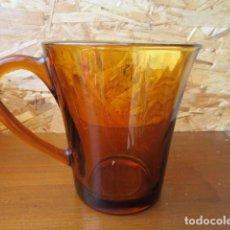 Vintage: DURALEX ÁMBAR - CONJUNTO DE DOS JARRAS PEQUEÑAS - SPAIN - VINTAGE + INFO. Lote 222033675
