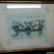 Vintage: PAISAJE EN SEDA. Lote 222415075