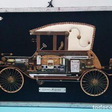 Vintage: CURIOSO CUADRO DE MADERA DE UN CITRÖEN 1919 REALIZADO CON PIEZAS VARIAS, MELGAREJO 42,50 X 62,50 CM. Lote 222552870