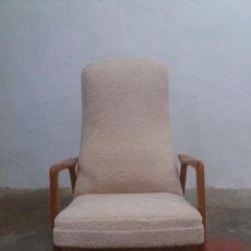 Vintage: BUTACA RECLINABLE AÑOS 60. Lote 222834056