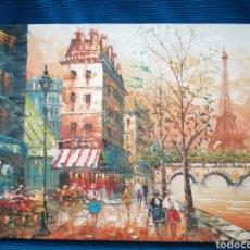 Vintage: LIENZO AL OLÉO, IMPRESIONISTA, FIRMADO. Lote 222838991