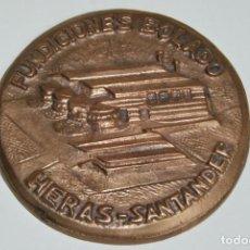 Vintage: CHAPA DE METAL FUNDICIONES BOLADO - HERAS - SANTANDER. Lote 223265952