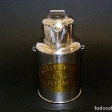 Vintage: BONITA ACEITERA INOX. DE 2 LITROS - COMPLETAMENTE FUNCIONAL.. Lote 224312560