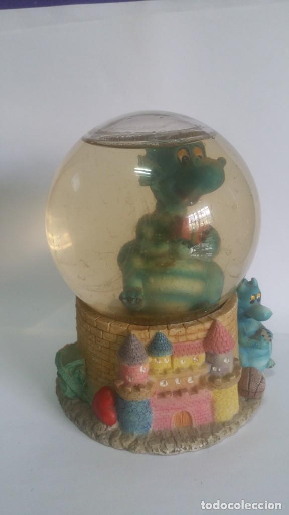 BOLA DE CRISTAL CON DRAGON Y CELOSIA (Vintage - Decoración - Varios)