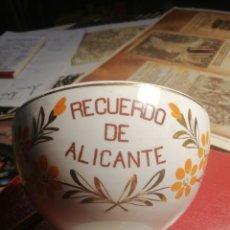 Vintage: TAZON O VOL RECUERDO DE ALICANTE BLANCO SOUVENIRS. Lote 225043560