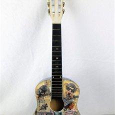 Vintage: GUITARRA DE MADERA DECORATIVA. Lote 225580655