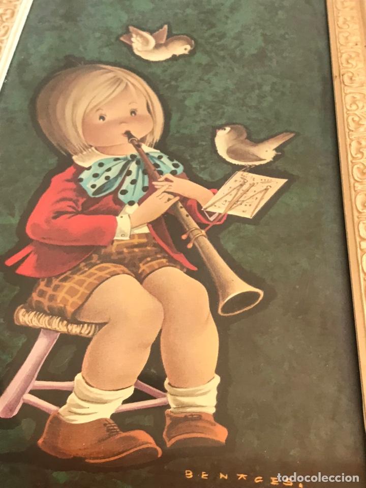 Vintage: 2 láminas enmarcadas Benages 35x16cm - Foto 3 - 225817055