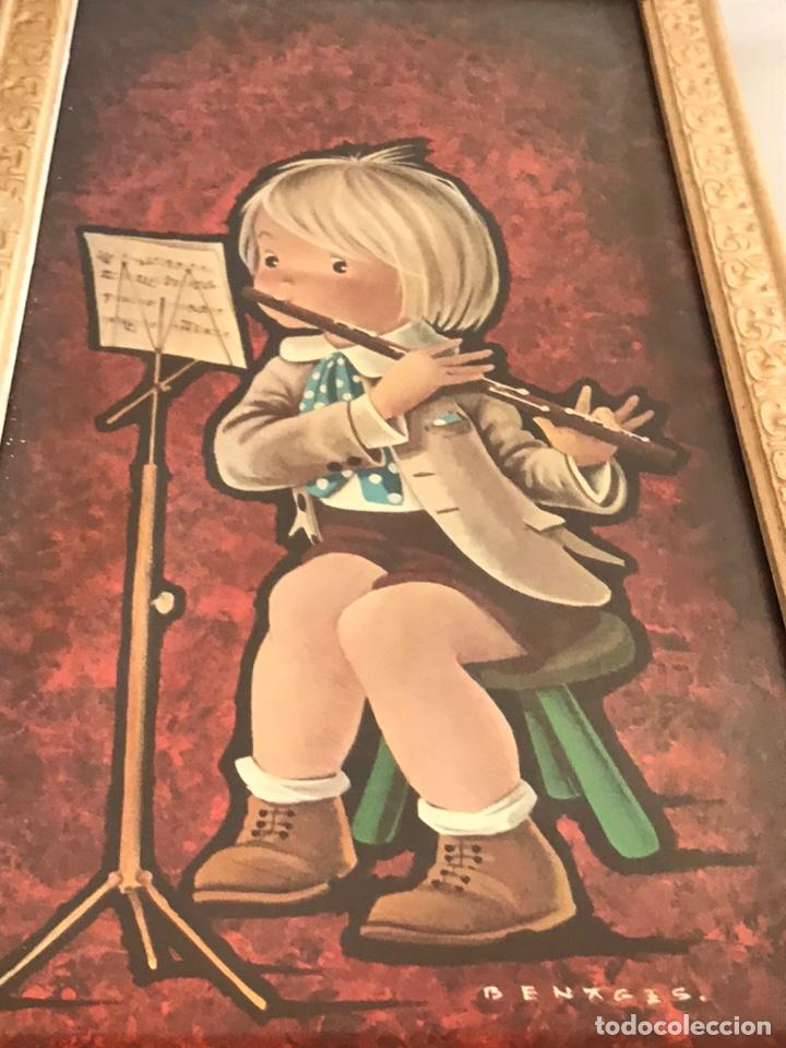 Vintage: 2 láminas enmarcadas Benages 35x16cm - Foto 4 - 225817055