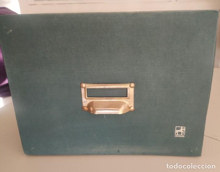 Vintage: Antigua caja cajón archivador clasificador fichero de oficina. Centauro. Años 60. Con fichas - Foto 2 - 225915336