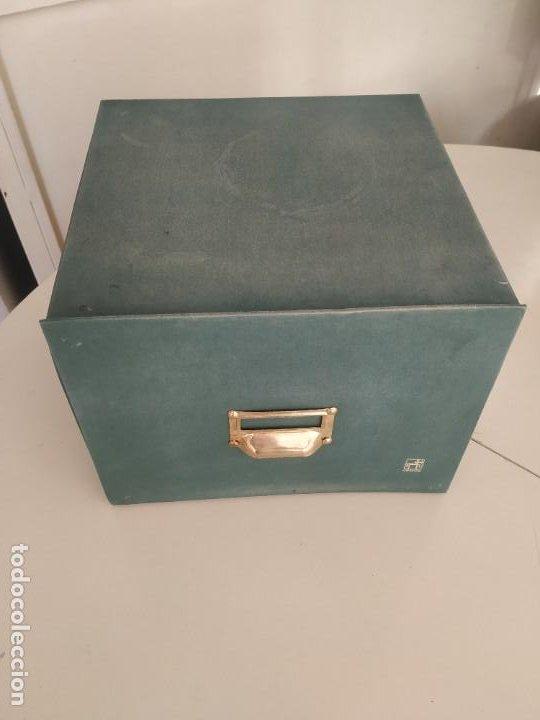 Vintage: Antigua caja cajón archivador clasificador fichero de oficina. Centauro. Años 60. Con fichas - Foto 4 - 225915336