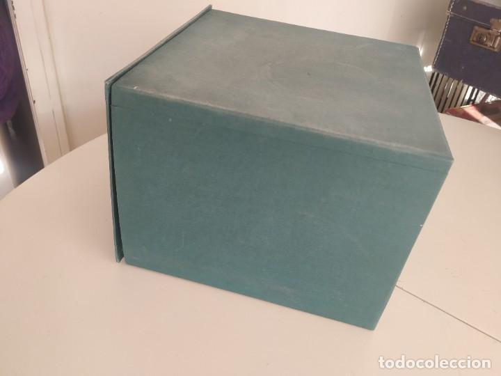 Vintage: Antigua caja cajón archivador clasificador fichero de oficina. Centauro. Años 60. Con fichas - Foto 6 - 225915336