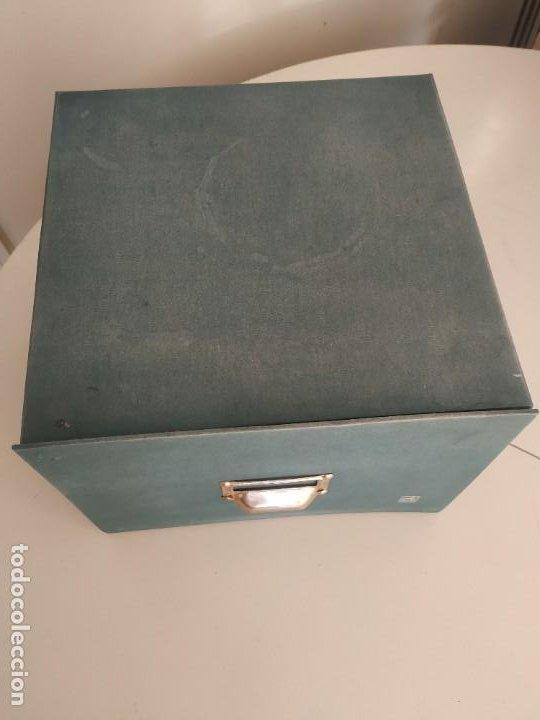 Vintage: Antigua caja cajón archivador clasificador fichero de oficina. Centauro. Años 60. Con fichas - Foto 8 - 225915336