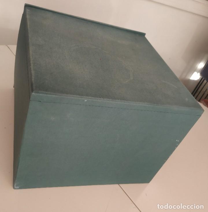 Vintage: Antigua caja cajón archivador clasificador fichero de oficina. Centauro. Años 60. Con fichas - Foto 9 - 225915336