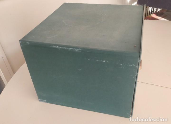Vintage: Antigua caja cajón archivador clasificador fichero de oficina. Centauro. Años 60. Con fichas - Foto 10 - 225915336