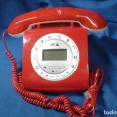 Vintage: SPC TELECOM 3606 R - TELÉFONO FIJO CON DISEÑO RETRO, COLOR ROJO (CON CABLE). Lote 226660446