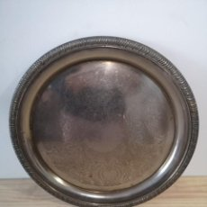 Vintage: BANDEJA REDONDA EN METAL. Lote 226793975