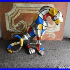 Vintage: GRACIOSA PANTERA COLORISTA SUPERDECORATIVA. Lote 226828445