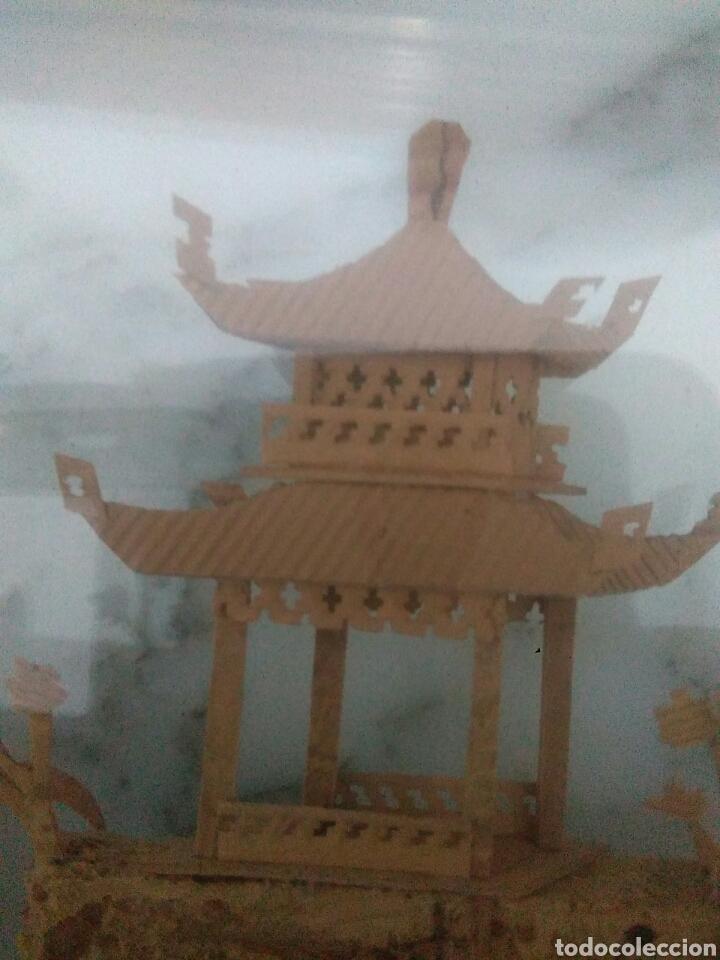 Vintage: Paisaje chino con osos panda y corcho dentro de cristal - Foto 6 - 228001010