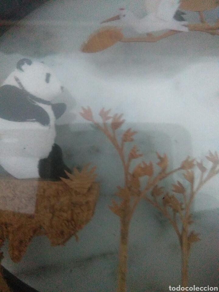 Vintage: Paisaje chino con osos panda y corcho dentro de cristal - Foto 7 - 228001010