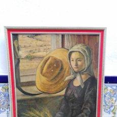 Vintage: MARCO DORADO RELIEVES PASPARTUR COLOR GRANATE - LAMINA SEGURA CLEMENTE. Lote 231343395