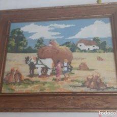 Vintage: CUADRO DE PETITPOINT ACTUAL ENMARCADO. Lote 232145865