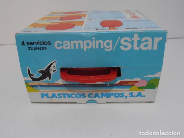 Vintage: CAMPING STAR, 4 SERVICIOS 32 PIEZAS, PLASTICOS CAMPOS, AÑOS 80 MADE IN SPAIN NUEVO A ESTRENAR - Foto 3 - 232876735