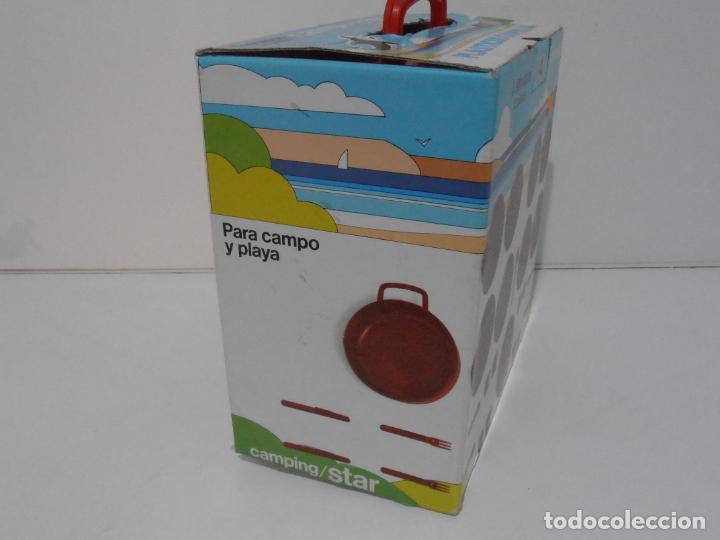 Vintage: CAMPING STAR, 4 SERVICIOS 32 PIEZAS, PLASTICOS CAMPOS, AÑOS 80 MADE IN SPAIN NUEVO A ESTRENAR - Foto 5 - 232876735