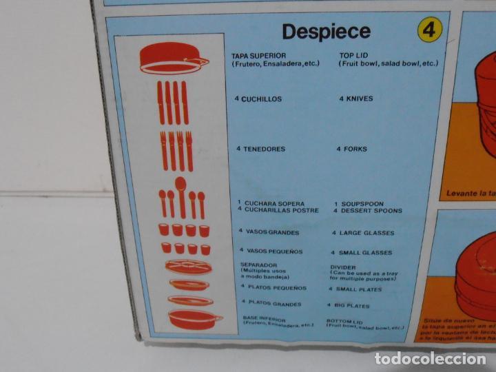 Vintage: CAMPING STAR, 4 SERVICIOS 32 PIEZAS, PLASTICOS CAMPOS, AÑOS 80 MADE IN SPAIN NUEVO A ESTRENAR - Foto 7 - 232876735