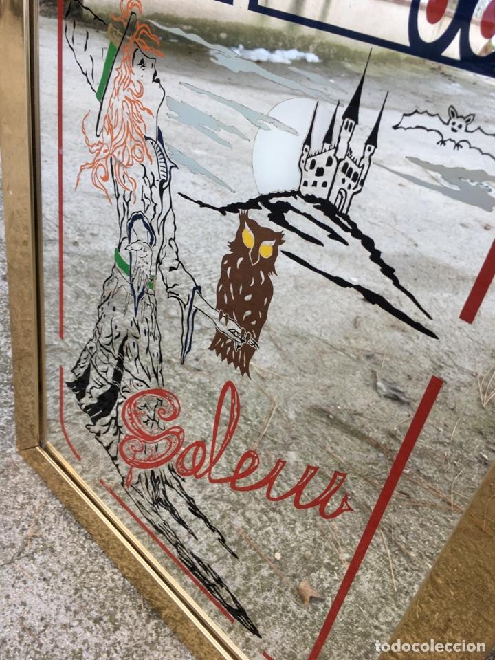 Vintage: Cartel espejo bruja Salem - Castillo brujería búho satanico - Foto 3 - 234908140