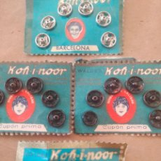 Vintage: LOTE 4 BLISTER AUTOMÀTICOS KOH - I - NOOR COSTURA. Lote 235479255