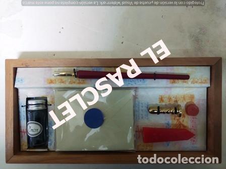 Vintage: ESCRIBANIA PARA CARTAS CON TINTA Y SELLO DE CERA - Foto 2 - 236613005