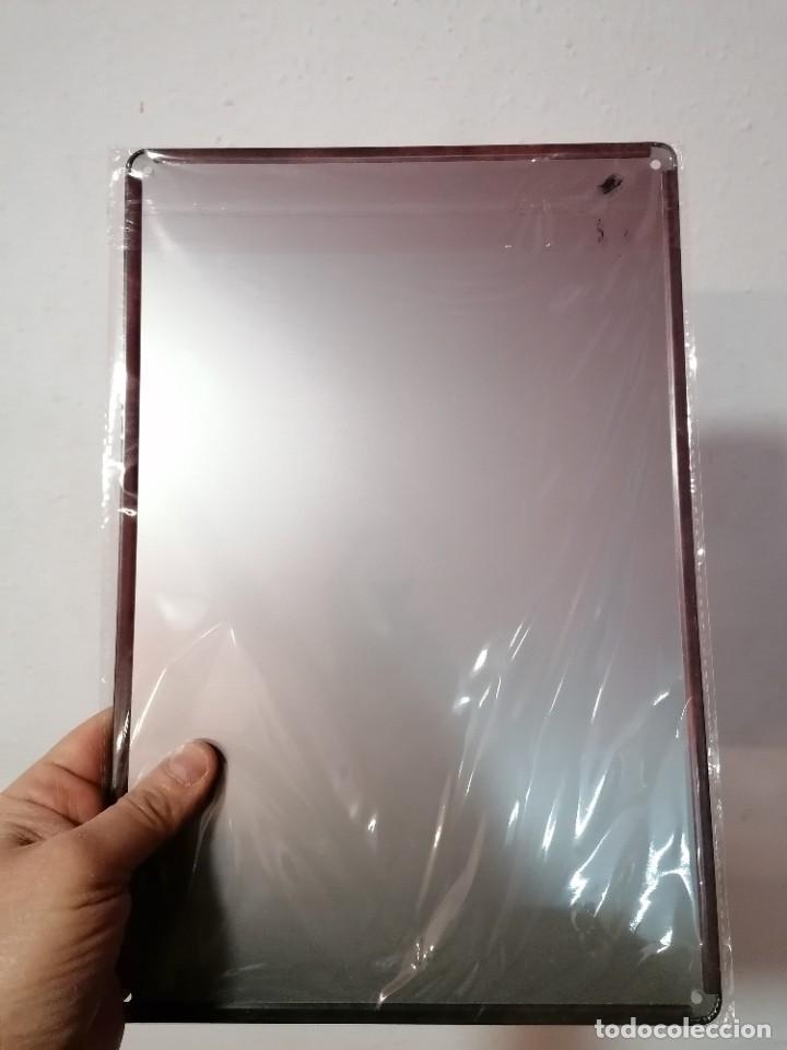 Vintage: Cartel de metal nuevo NO STUPID PEOPLE - Foto 2 - 236619345
