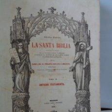 Vintage: ¡¡ LA SANTA BIBLIA, ANTIGUO TESTAMENTO, 1ª EDICION, MADRID - 1852. !!. Lote 236718015