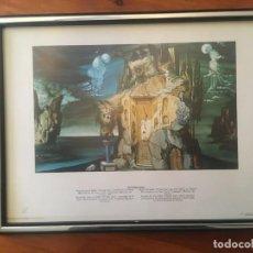 """Vintage: CUADRO DE SALVADOR DALI,LAMINA ENCUADERNADA DISTRIBUCIONS D'ART SURREALISTA DE 1981 """"TRISTAN LOCO"""". Lote 236746680"""
