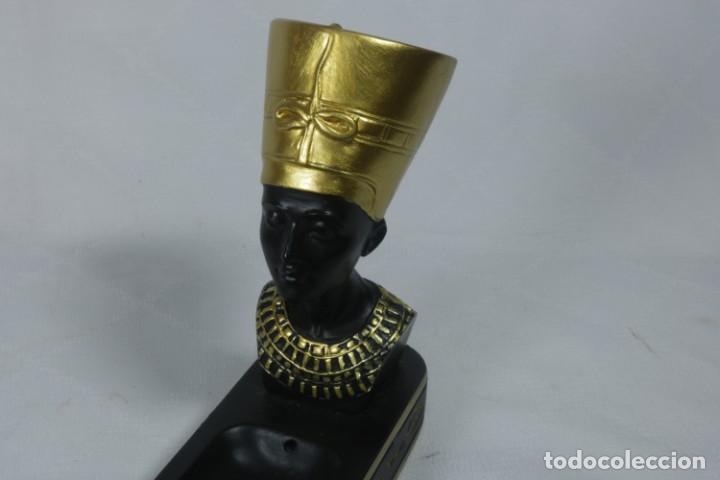 Vintage: Incensario portavelas con decoración egipcia - Foto 3 - 238234295