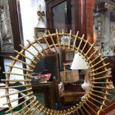Vintage: ESPEJO VINTAGE DE CAÑA CON MEDIDA 65 CM DIAMETRO. Lote 239370385