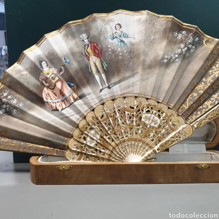 ABANICO CON CAJA (Vintage - Decoración - Varios)