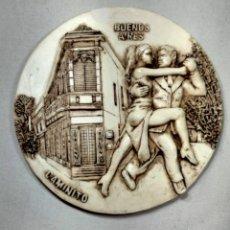 Vintage: PLATO TANGO EN CAMINITO, BUENOS AIRES. Lote 240270110