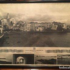 Vintage: CUADRO POSTER DE CADAQUES CAIXA D'ESTALVIS PROVINCIAL DE GIRONA 70 / 49. Lote 241479100
