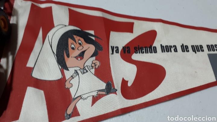 Vintage: Antiguo banderín Familia telerin promoción ATS del 63 al 66 - Foto 2 - 243181050