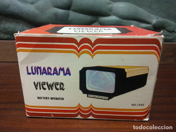VISOR DE DIAPOSITIVAS LUNARAMA. VIEWER. FOR 35 MM COLOUR SLIDE. MEDIDAS 12*10*15 CM (Vintage - Varios)