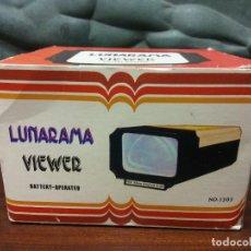 Vintage: VISOR DE DIAPOSITIVAS LUNARAMA. VIEWER. FOR 35 MM COLOUR SLIDE. MEDIDAS 12*10*15 CM. Lote 243879905