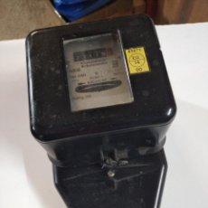 Vintage: ANTIGUO CONTADOR MONOFASICO 220V. 10(30A) USADO PERO EN BUEN ESTADO.FUNCIONANDO.. Lote 243927325