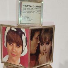 Vintage: LOTE DE 3 PORTAFOTOS CUBO. PORTARRETRATOS VINTAGE DISTINTAS MEDIDAS. MARCA BAYONA. BCN (ESPAÑA). Lote 245547090