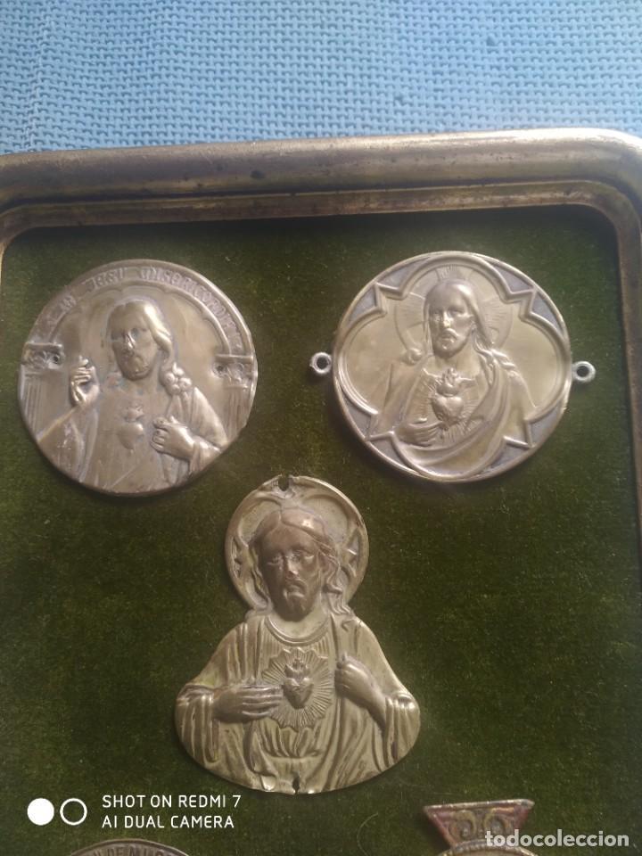 Vintage: Cuadro expositor sagrado corazon - Foto 2 - 251140500