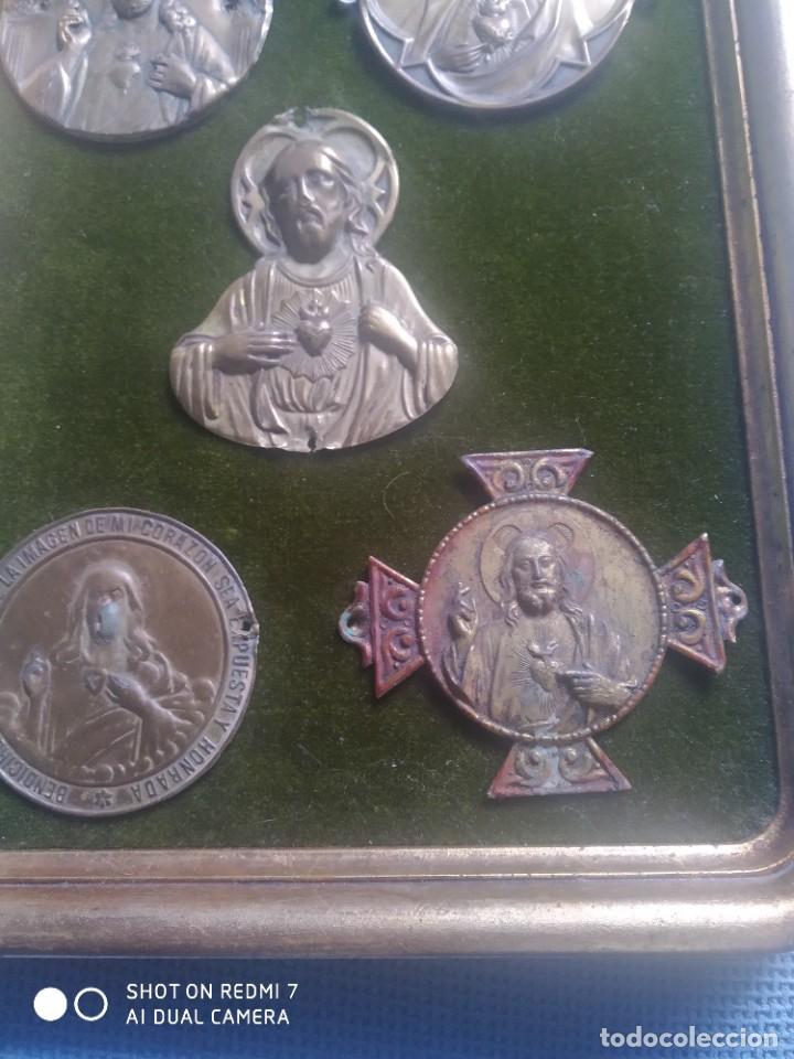 Vintage: Cuadro expositor sagrado corazon - Foto 3 - 251140500
